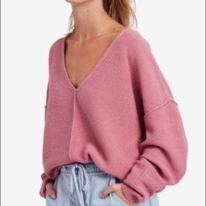 Free People Take Me Places Seamed Sweater
